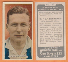 West Bromwich Albion William Richardson England